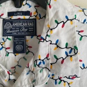 American Rag Shirts - American Rag Christmas Light short sleeve Sz L Men